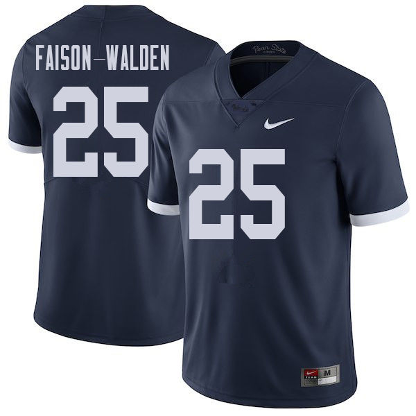Men #25 Brelin Faison-Walden Penn State Nittany Lions College Throwback Football Jerseys Sale-Navy